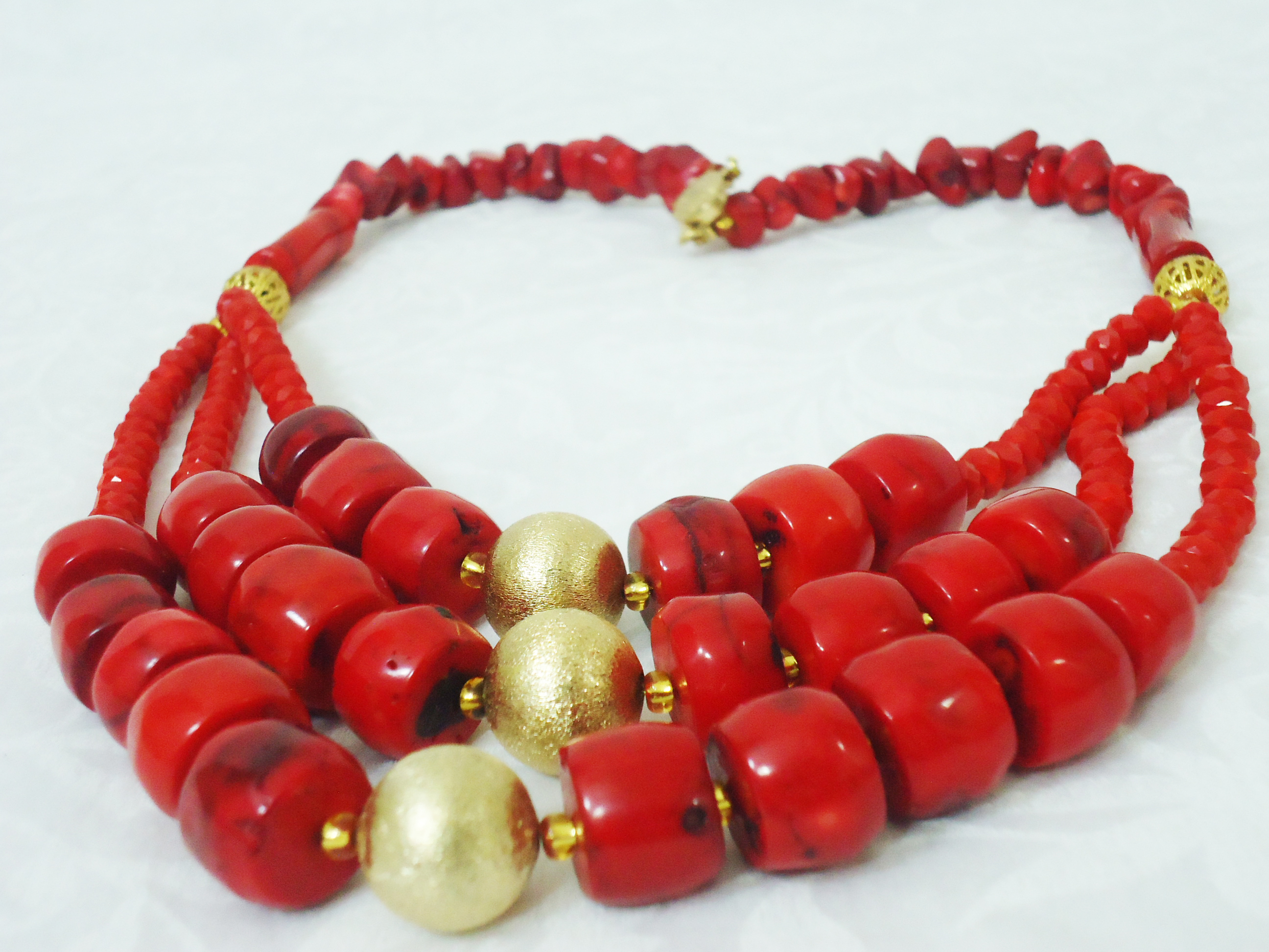 Adaku - Red Coral Statement Necklace | HauteCorals