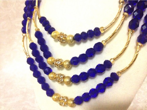 nigerian wedding beads, nigerian beads, traditional engagement beads, traditional wedding beads, nigerian traditional wedding beads, cobalt blue statement necklace, beaded statement necklace, blue statement necklace, blue cluster earrings