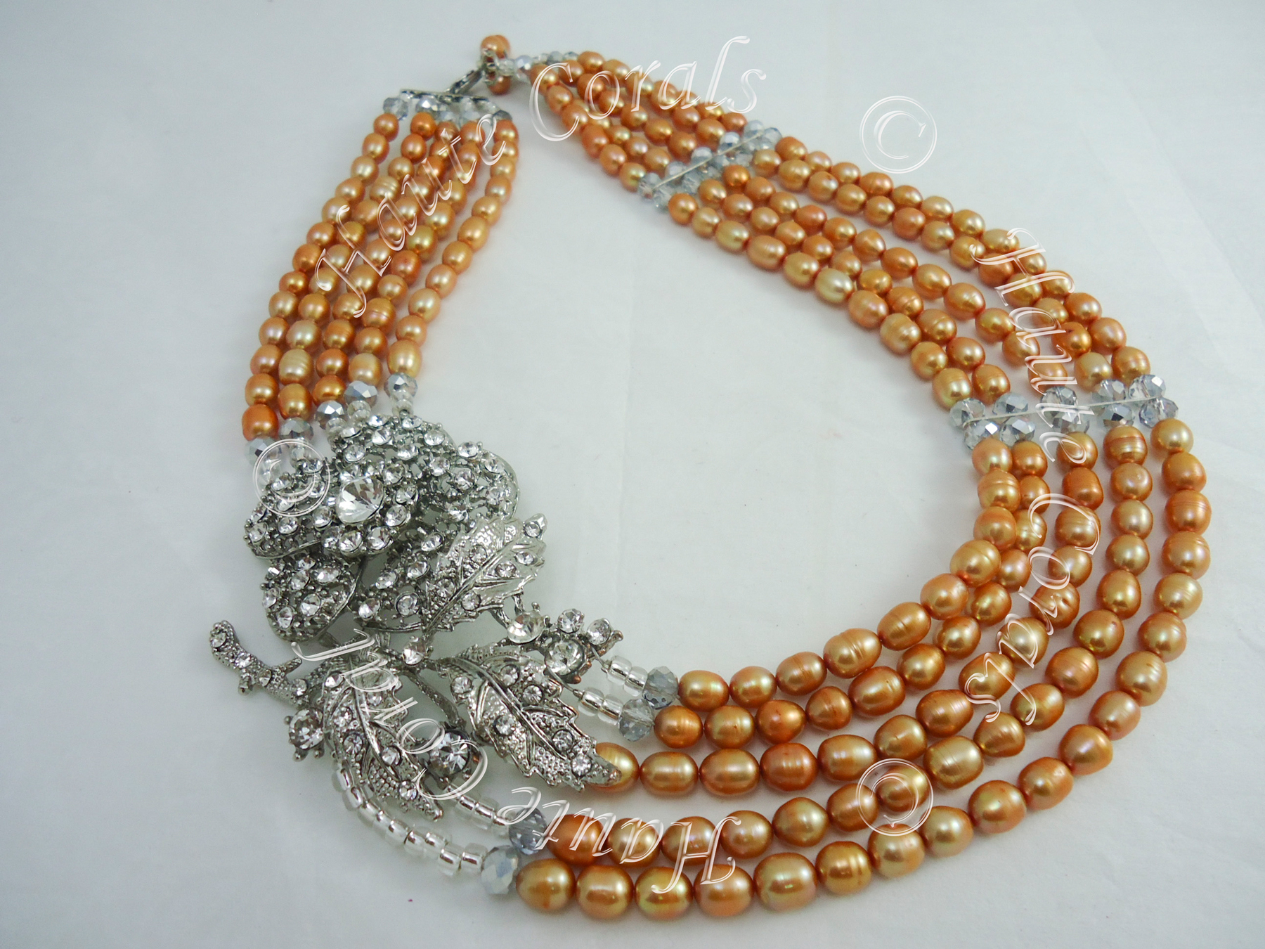 Tribal Accessories, Tribal Glam, Tribal Jewelry, Crystal Statement Necklace,  Layered Statement Necklace