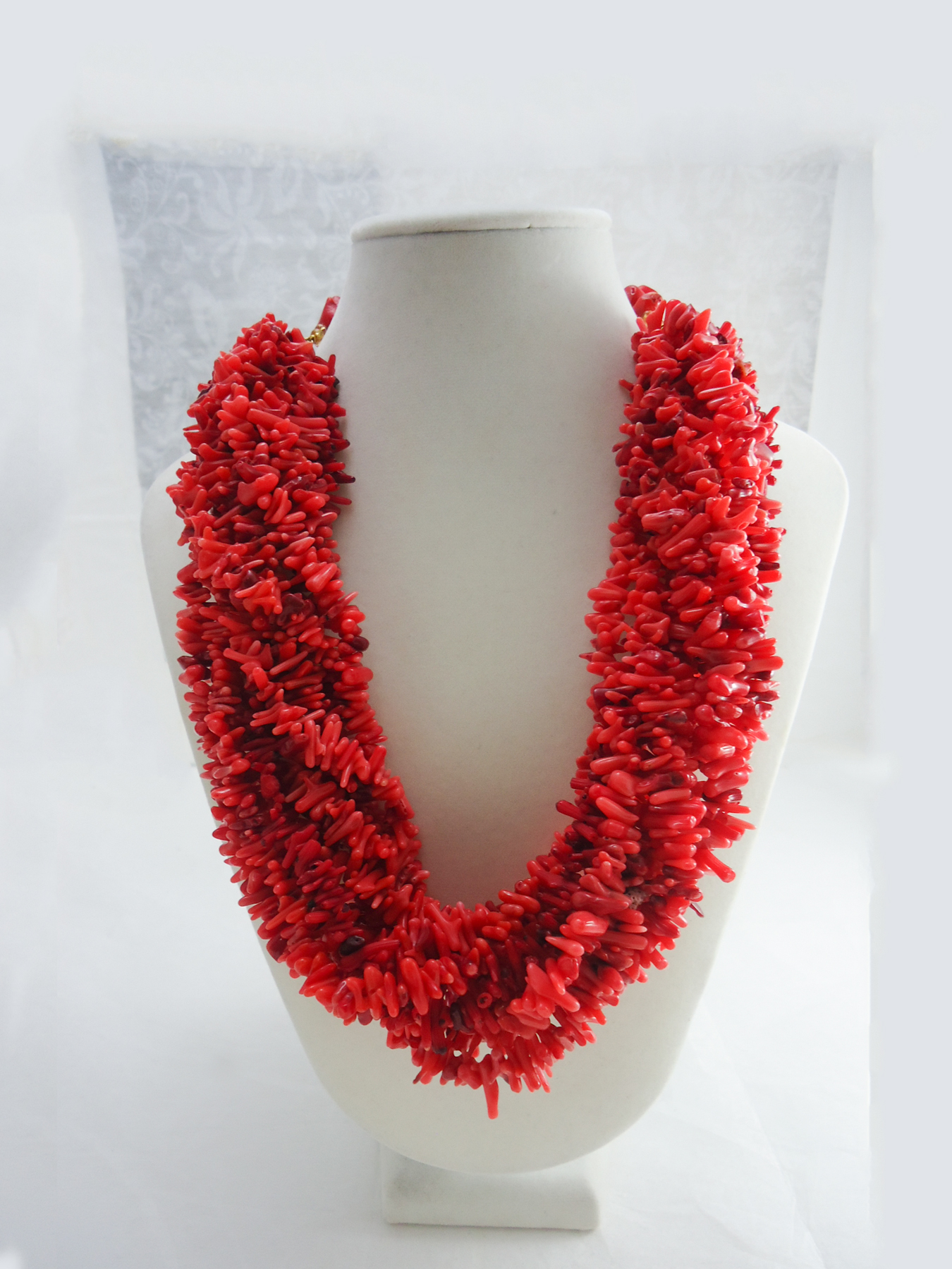 Chinwe - Bamboo Red Coral Statement necklace | HauteCorals