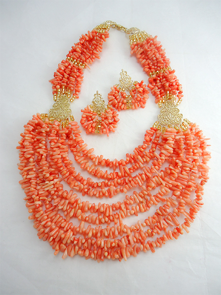 tribal accessories, tribal glam, tribal jewelry, crystal statement necklace, layered statement necklace, bib statement necklace, statement necklace under 100, vintage statement necklace, beaded statement necklace, african accessories, unique statement necklace, beaded statement necklace, african accessories, nigerian wedding beads, nigerian beads, traditional engagement beads, traditional wedding beads, nigerian traditional wedding beads, bamboo red coral, red coral necklace, beaded statement necklace, amarachi, red bamboo necklace, coral bamboo necklace, multistrand coral necklace, nigerian coral beads, coral necklace