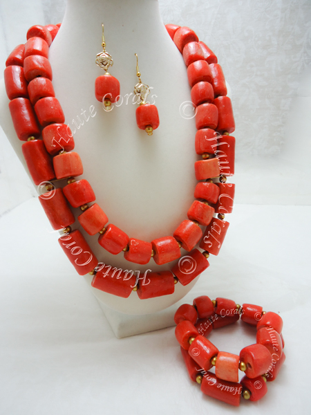 Chizoba African Traditional Coral Necklace Set Hautecorals