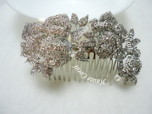 bridal hair bling, Wedding hair accessory, Hair jewelry, bridal hair jewelry, wedding haircomb, bridal hairpiece, wedding headpiece, swarovski hair comb, vintage hair comb, vintage bridal hair comb, Bridal Hair Comb, Brooch Hair Comb, rhinestone hair comb, bridesmaid hair comb, Crystal hair comb, prom hair comb, bridal hair comb, crystal bridal comb, bridal headpiece, bridal hair bling, Austrian Crystal Daisy Flower Hair Comb, Rhinestone Peacock Feather Bridal Hair Comb, Rhinestone Rose Flower Bridal Hair Comb