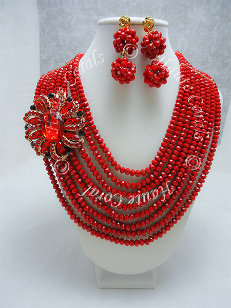 tribal accessories, tribal glam, tribal jewelry, crystal statement necklace, layered statement necklace, bib statement necklace, statement necklace under 100, vintage statement necklace, beaded statement necklace, african accessories, unique statement necklace, beaded statement necklace, Red Crystal Beads Statement Necklace Set , crystal beads necklace, red glass beads necklace, red beaded necklace, red choker statement necklace, red choker necklace, chunky red necklace, Red Statement Necklace, Brooch Statement Necklace, nigerian beads, Nigerian Wedding beads, nigerian engagement beads, Nigerian traditional wedding beads, rhinestone statement necklace, beaded statement necklace, multistrand beaded necklace, nigerian beads, traditional engagement beads, traditional wedding beads, statement necklace