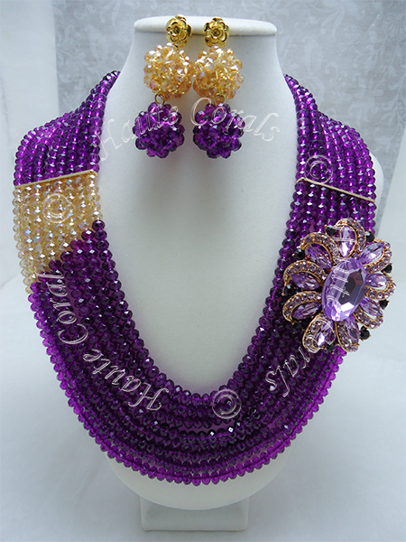 tribal accessories, tribal glam, tribal jewelry, crystal statement necklace, layered statement necklace, bib statement necklace, statement necklace under 100, vintage statement necklace, beaded statement necklace, african accessories, unique statement necklace, beaded statement necklace, purple and gold statement necklace, purple statement necklace, beaded bridal necklace, beaded bridesmaid necklace, Isioma, Nigerian Wedding beads, glass bead statement necklace, nigerian engagement beads, Nigerian traditional wedding beads, rhinestone statement necklace, beaded statement necklace, multistrand beaded necklace, nigerian beads, traditional engagement beads, traditional wedding beads, brooch necklace