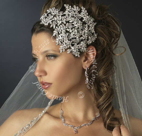 princess bridal headpiece bridal hair bling wedding hair accessory hair jewelry bridal