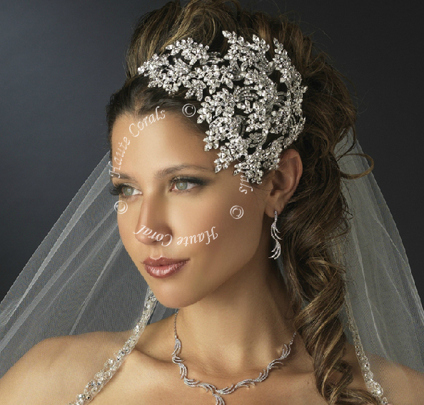 Princess Bridal Headpiece Hair Bling Wedding Accessory Jewelry