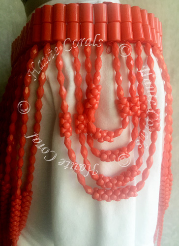 Nigerian coral shoulder beads, tribal accessories, tribal glam, tribal jewelry, statement necklace under 100, beaded statement necklace, African accessories, unique statement necklace, beaded statement necklace, coral shoulder beads, traditional coral shoulder beads, bridal shoulder beads, Nigerian shoulder beads, coral shoulder beads, Nigerian Wedding beads, Nigerian engagement beads, Nigerian traditional wedding beads, coral necklace, coral statement necklace, Nigerian coral beads