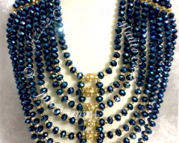 tribal accessories, tribal glam, tribal jewelry, crystal statement necklace, layered statement necklace, bib statement necklace, statement necklace under 100, vintage statement necklace, beaded statement necklace, african accessories, unique statement necklace, african accessories, crystal beads statement necklace, Nigerian Wedding beads, Nigerian engagement beads, Nigerian traditional wedding beads, beaded bridal necklace, royal blue statement necklace, African Bridal Jewelry set, HauteCorals, bridesmaid beaded statement necklace, vintage statement necklace, bridal beaded blue statement necklace