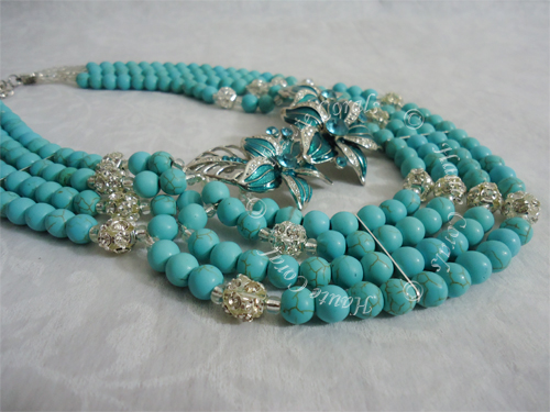 Magnesite Beads Statement Necklace Set, turquoise and rhinestone beads statement necklace, Handmade jewelry, tribal accessories, tribal glam, tribal jewelry, beaded statement necklace, African accessories, unique statement necklace, beaded statement necklace, Nigerian Wedding beads, Nigerian engagement beads, Nigerian traditional wedding beads, Nigerian bridal jewelry, African Bridal Jewelry set, HauteCorals, bridesmaid beaded statement necklace, Magnesite beads Statement Necklace, Brooch Statement Necklace, bridesmaid statement jewelry, statement necklace under 100, vintage statement necklace,