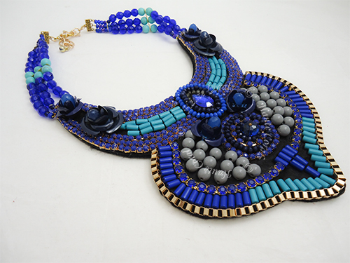 Handmade jewelry, tribal accessories, tribal glam, tribal jewelry, crystal statement necklace, layered statement necklace, bib statement necklace, statement necklace under 100, vintage statement necklace, beaded statement necklace, cobolt blue bib statement necklace, african accessories, bead collar statement necklace, african accessories, crystal beads statement necklace, Nigerian Wedding beads, Nigerian engagement beads, Nigerian traditional wedding beads, beaded bridal necklace, royal blue statement necklace, African Bridal Jewelry set, HauteCorals, bridesmaid beaded statement necklace, vintage statement necklace, bridal beaded blue statement necklace