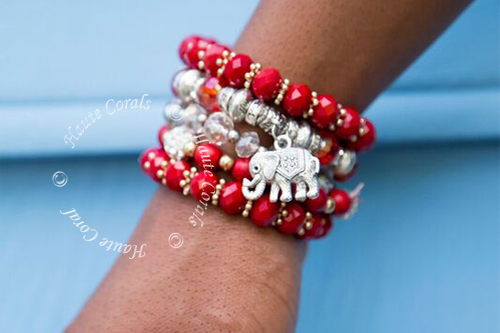 step on domestic red beads bead silver bracelet diva format a string making satin jewelry for