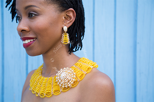 Handmade jewelry, tribal accessories, tribal glam, tribal jewelry, collar statement necklace, yellow crystal beads statement necklace, layered statement necklace, statement necklace under 100, vintage statement necklace, beaded collar statement necklace, African accessories, beaded statement necklace, Nigerian Wedding beads, glass bead collar statement necklace, yellow statement necklace, Nigerian engagement beads, Nigerian traditional wedding beads, brooch statement necklace, rhinestone statement necklace, African Bridal Jewelry set, traditional engagement beads, traditional wedding beads, yellow bridesmaid beaded statement necklace