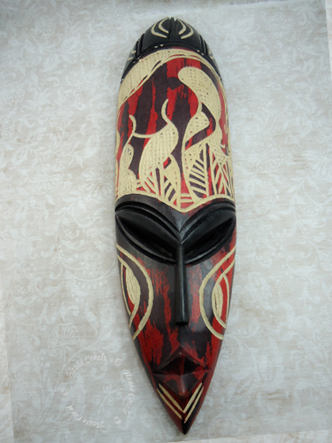Abiodun African Wood Mask Wall Décor Hautecorals